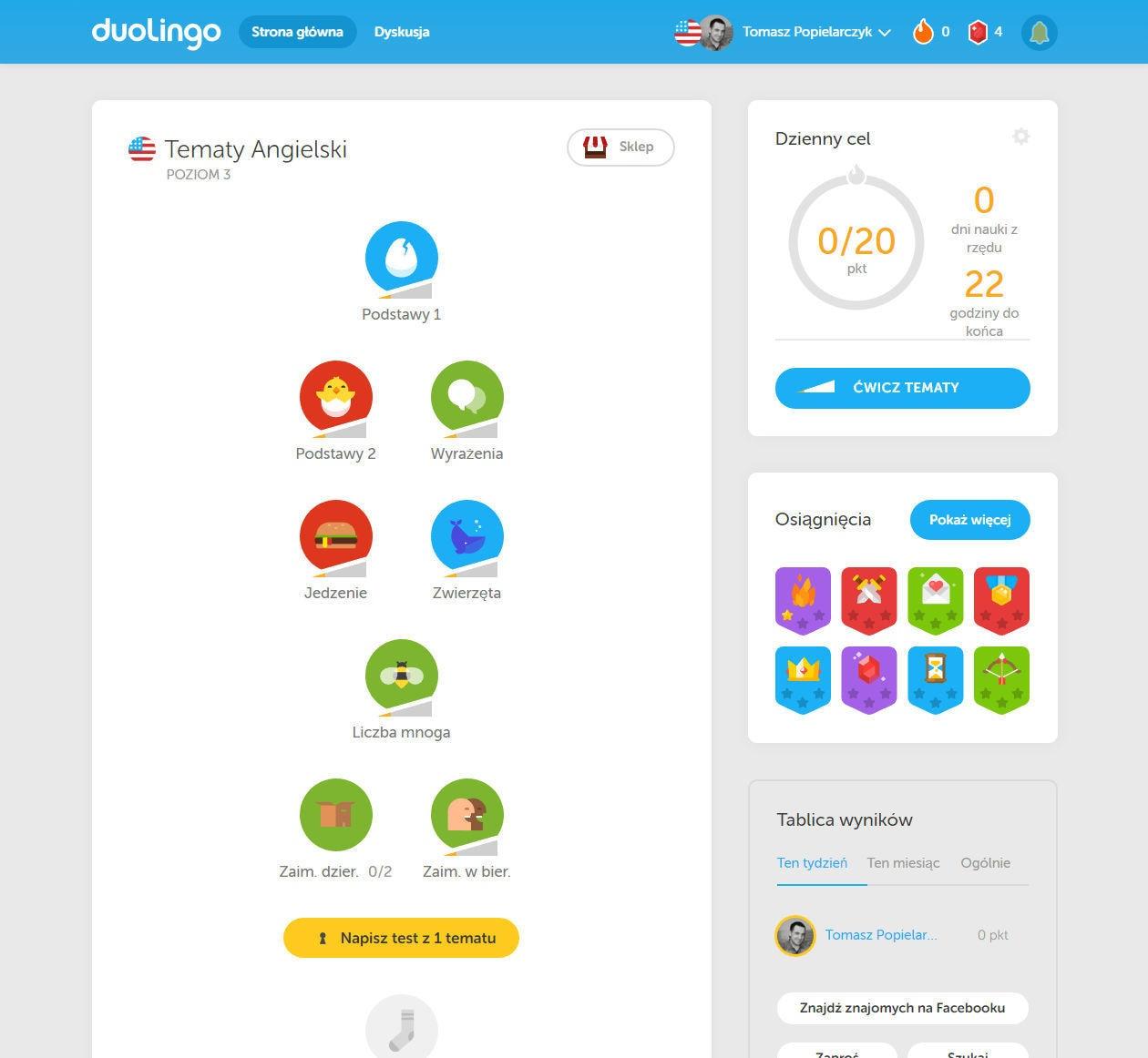 Duolingo nauka angielskiego opinie