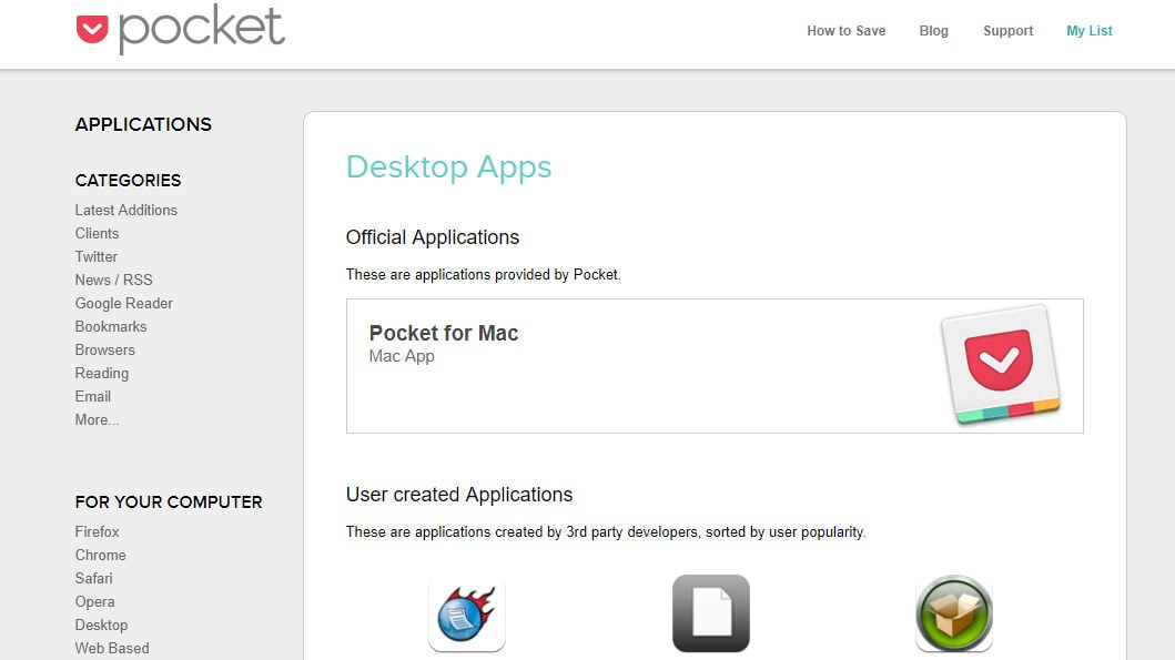 Pocket desktop apps