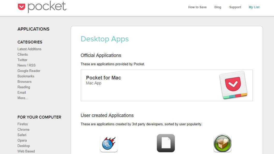 Pocket desktop apps