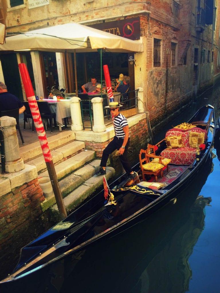 Wenecja, gondolier, kanał