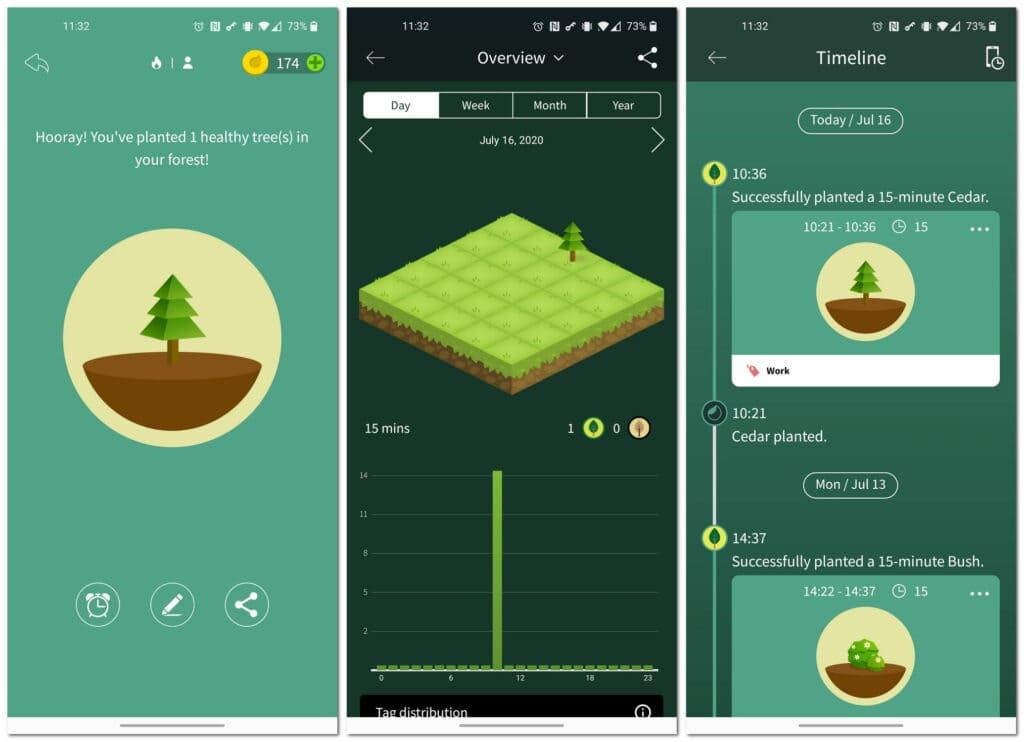 Aplikacja Forest do Pomodoro i skupienia