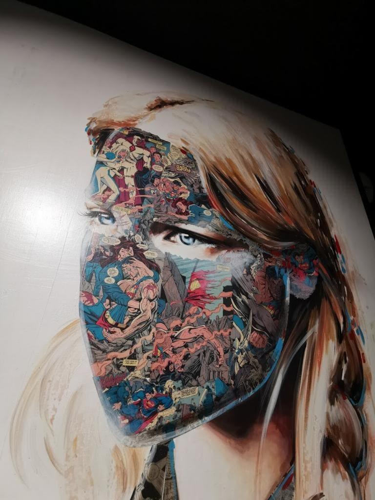 Urban Nation - obraz twarzy kobiety