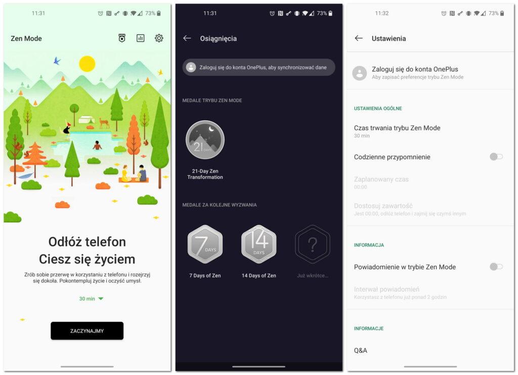 ZenMode OnePlus aplikacja