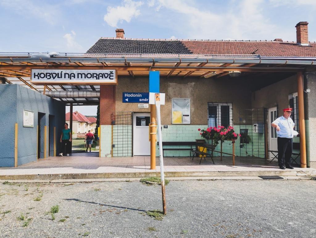 Stacja kolejowa Morawy Czechy