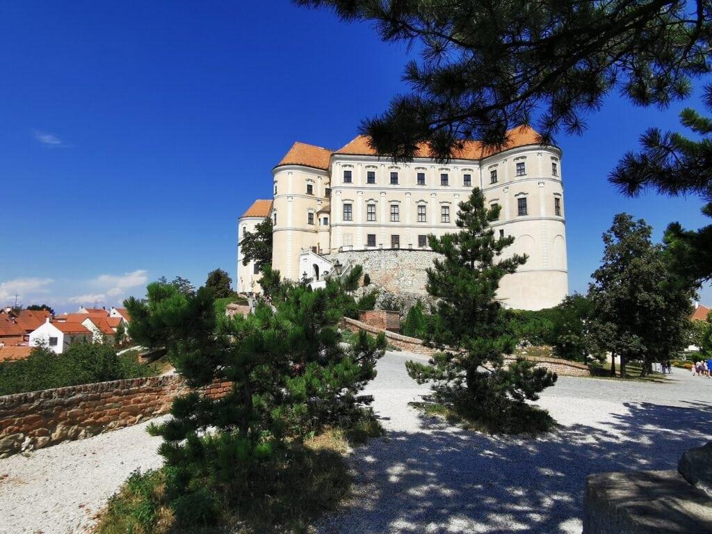 Mikulov zamek widok Morawy